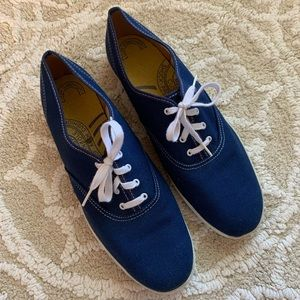 Vintage Keds Blue Canvas Champion Oxford Sneakers